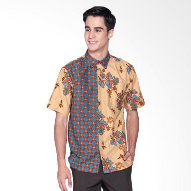 Danar Hadi Print Motif Lung Kukilo  ... Batik Pendek Pria - Brown