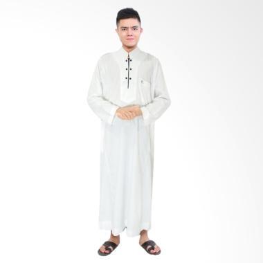 JCFashion Africani Al-Isra Gamis Jubah Muslim Pria - White