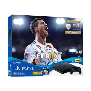 SONY PS4 Slim Bundle FIFA 18 + 2 Stick