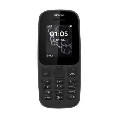 Nokia 105 New 2017 Handphone - Black [Dual SIM]