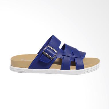 Dr.Kevin Leather Sandals Men - Blue 17216