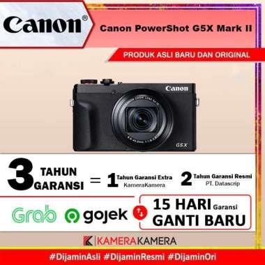 KameraKamera Canon PowerShot G5X Mark II Digital Compact Camera - Garansi Datascrip Hitam