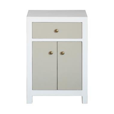 Alegre Series Tierra Drawer - White [1 Drawer/ 2 Door]