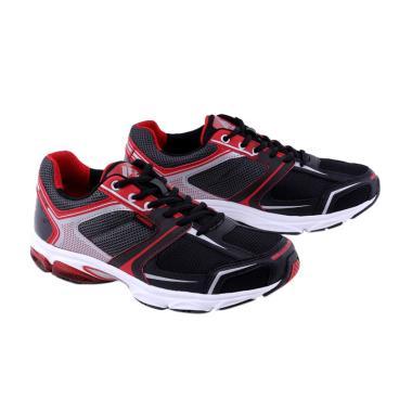 Garsel Sepatu Badminton Pria - Merah Kombinasi [GRE 7755]