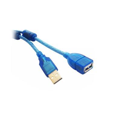 Doctor Extension HQ Transparan Kabel USB - Biru [10 m]