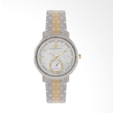 Charles Jourdan CJ1032-2112 Jam Tangan Wanita - Silver Gold