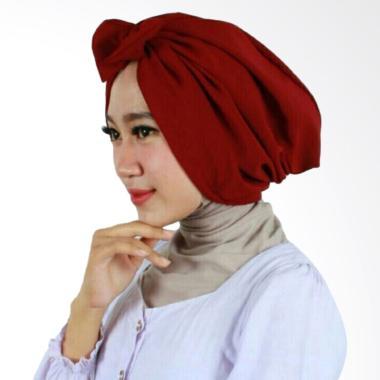 Hijab Bandung Kerudung Bow Turban - Maroon