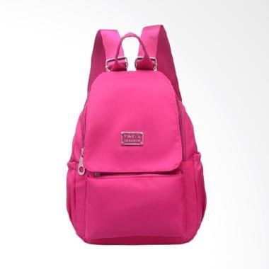 Martinversa TRW11 Backpack Kanvas Nylon Impor Tas Ransel Wanita - Pink