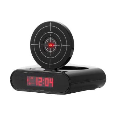 TOKUNIKU Gun Alarm Clock Jam Weker - Black