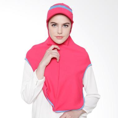 ATTIQAHIJAB Long Runner Sport Hijab Instant - Fuschia List Blue
