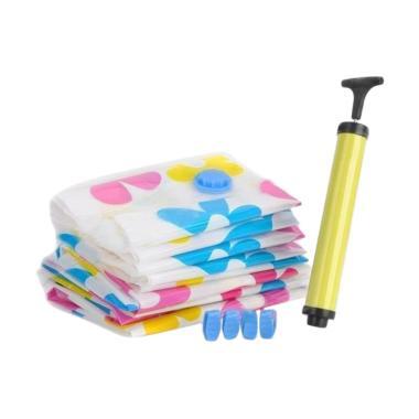 Captivate Store Vacuum Storage Plastic Bag with Pompa [6 pcs ]