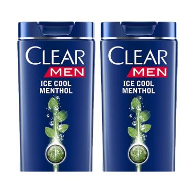 CLEAR Men Anti Ketombe Ice Cool Menthol Shampoo [340 mL/Twin Pack]