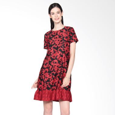 Bhatara Batik Women FNF 2 3050P/HME Mini Dress - Red Black