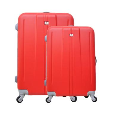 Polo Team 003 Hardcase Kabin Set Koper - Merah [Size 20 dan 24 Inch]