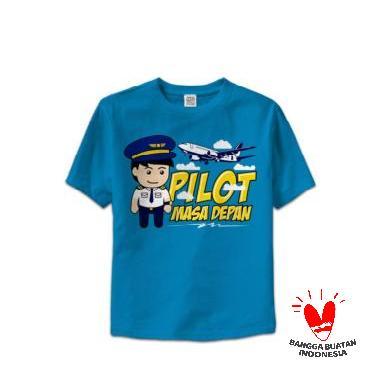 Hoofla HT 11 Kids Distro T-shirt Anak - Biru