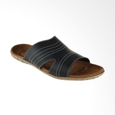 Bata Rucku Men Sandal Pria - Black [8716351]