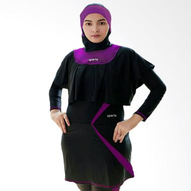 SPORTE SR 11 Baju Renang Muslimah - Hitam Ungu