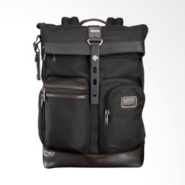 TUMI Alpha Bravo Luke Roll Top Hickory Tas Backpack Pria - Brown