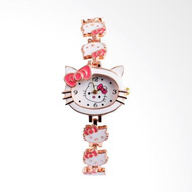 Hello Kitty WAT1514W Cute Cartoon W ... an Anak Perempuan - White