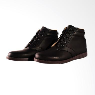 Adamsbell Casual Exclusive Kulit Sintetis Sepatu Boots Pria - Hitam