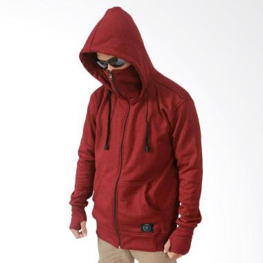 NHS Wear Jaket Hoodie Ninja Pria - Maroon