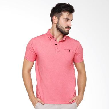 Arnett Komb Chambray Polo Shirt Fashion Pria - Red