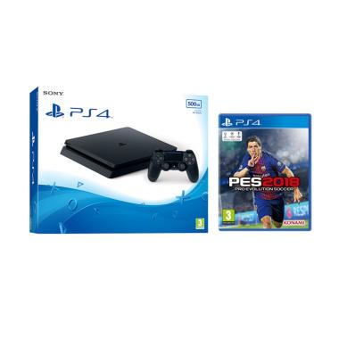 SONY PS4 Slim Game Console [500 GB/ ... ] + PES 2018 PS4 DVD Game