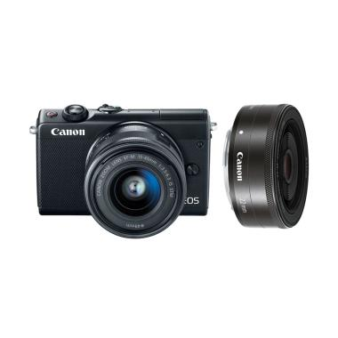 Canon EOS M100 Kit 15-45mm + 22mm Kamera Mirrorless - Black