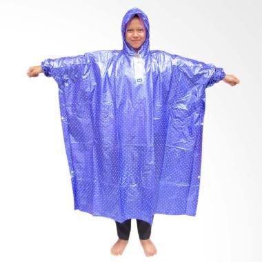 Rainy Collections Polkadot Plevia Jas Hujan Ponco - Ungu