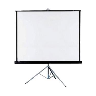 SCREEN PROJEKTOR Tripod Layar Proyektor - Putih [70 x 70 Inch]