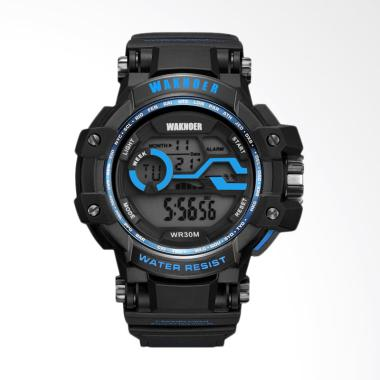 WAKNOER Top Brand Men's LED Digital ... Pria - Blue [WAKNOER020B]