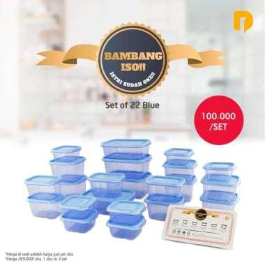 harga Bambang SH Selalu Hits Set Of 22. Toples Kulkas Microwave Safe BPA Fre - Biru Muda Multicolor Blibli.com