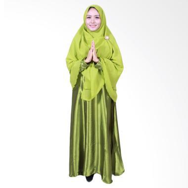 Batik Putri Ayu Solo Gamis Syari Muslim - Hijau