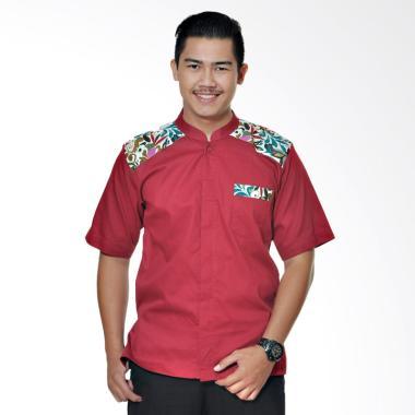 Mirtazani Nuzaima Baidai Koko Baju Muslim Pria - Merah