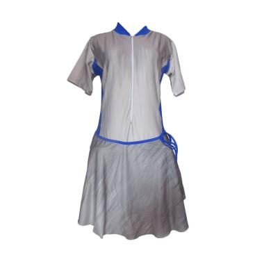 Rainy Collections Rok Jumbo Baju Renang Wanita - Abu List Biru