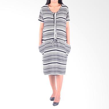 HMILL 1402 Dress Hamil - Hitam