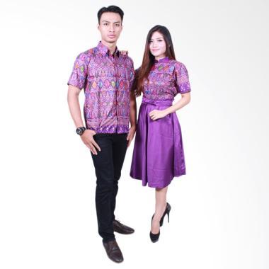 Batik Putri Ayu Solo SRD502 Batik Sarimbit Couple - Ungu