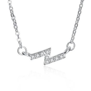 SOXY LKNSPCN1131 Silver Zircon Necklace