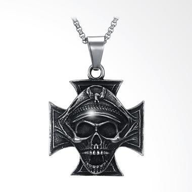 SOXY Skull Titanium Steel Necklace - Silver [GMYN146]