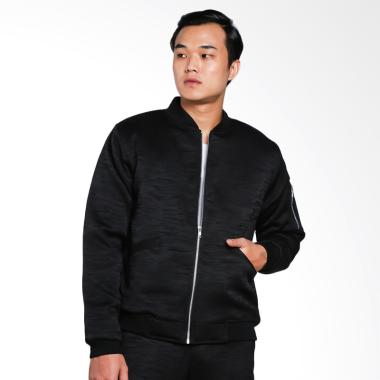 Papercut Men by Moral Bomber Jacket Pria - Black