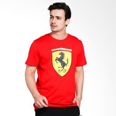 PUMA Men's Ferrari Big Shield T-Shirt Pria [762139 01]