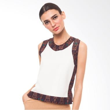 STEPH Tanktop with Borderline Batik Wanita - Beige