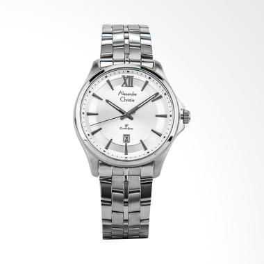 Alexandre Christie Classic Jam Tangan Pria - Silver [AC 8530 MD BSSSL]