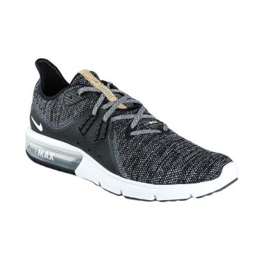 NIKE Men Running Air Max Sequent 3  ... Pria - Black [921694-011]