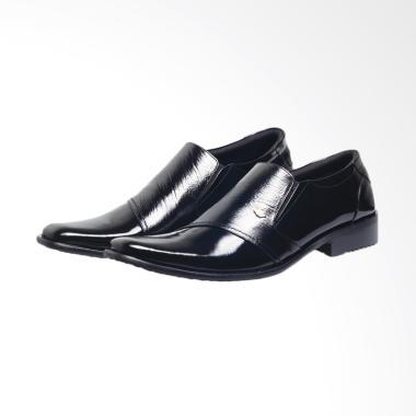 Syaqinah Kulit Asli Sepatu Formal Pria - Hitam [209]