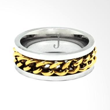 JAQ Catena Ring Gelang Pria - Silver Gold