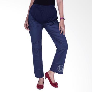 Mama Hamil CLO 32 Poppin stretch KP standart Celana Kerja Hamil - Biru