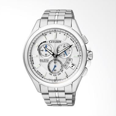 Citizen Eco Drive Radio Duratect Ti ... Silver White [BY0051-55A]
