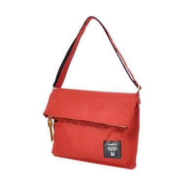 Anello Folding Shoulder Bag Polyester Canvas AT-B1227 - Dark Orange