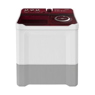 SHARP EST1490WARD Mesin Cuci - Merah [2 Tabung/ Khusus Jadetabek]